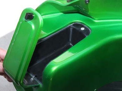 wedge fairing storage compartment