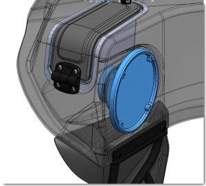 line drawing of left speaker | Wedge Fairing