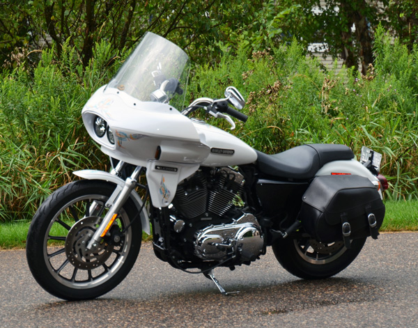 sportster motorcycle with fairing