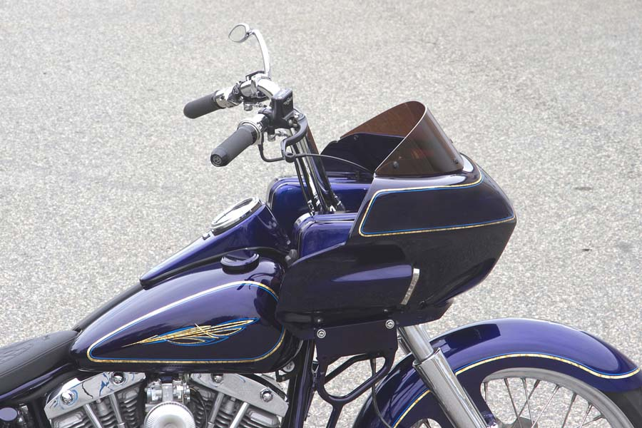 Custom Shovel Bagger Motorcycle with Fairing   Wedge Fairing