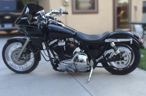 Harley FXR with fairing | Wedge Fairing