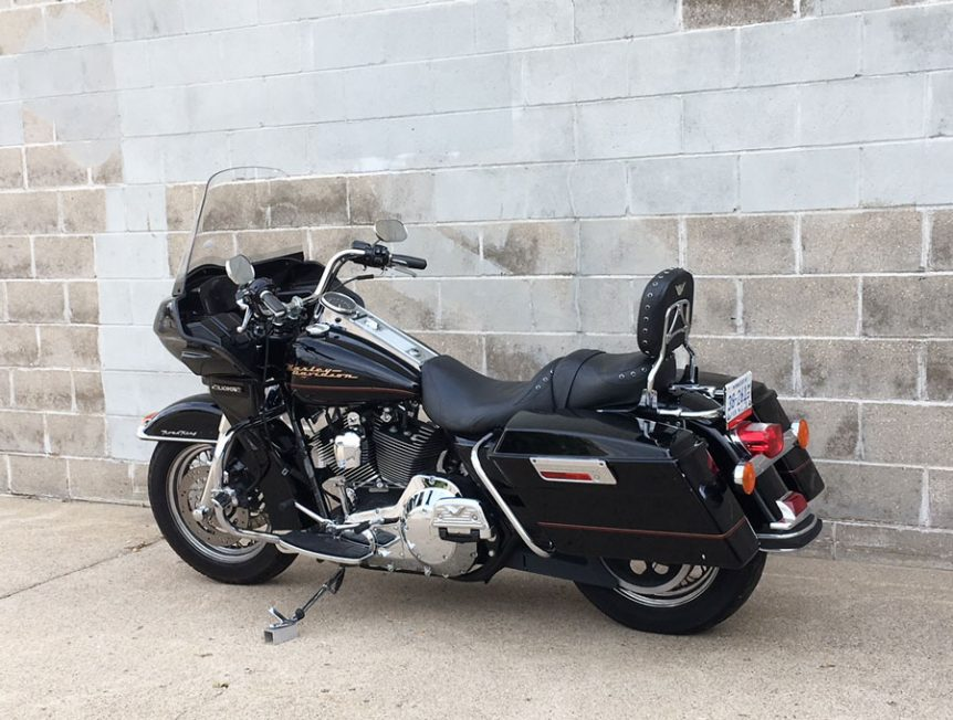 road king with frame mounted fairing