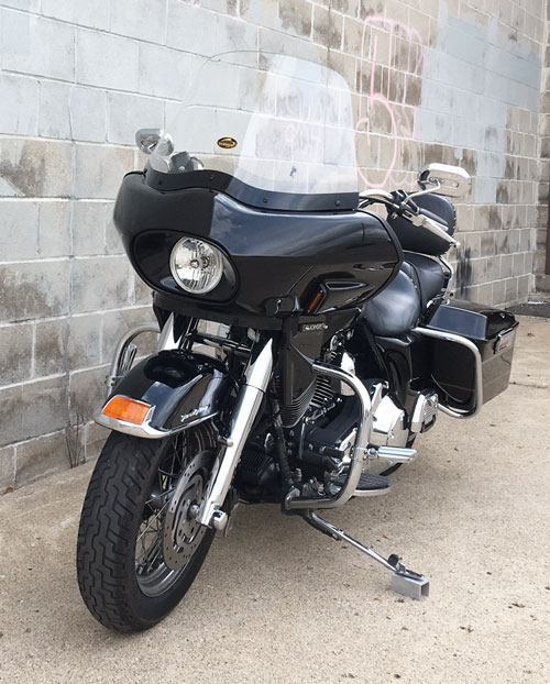 road king with single headlight fairing