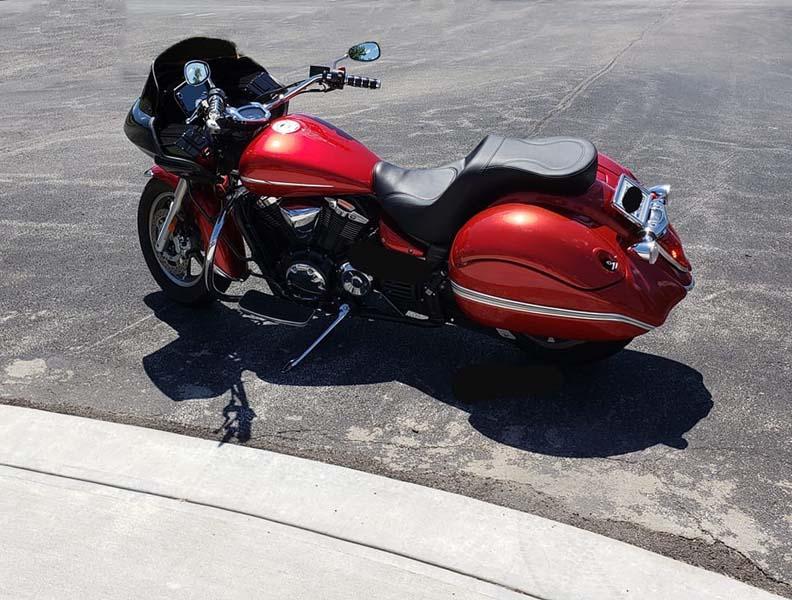 Honda VT 1300 motorcycle with fairing
